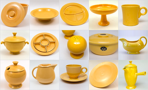 Yellow Fiestaware Vintage Fiesta 1930s 1940s 1950s Solid Color Ringware Mix Match Tableware Homer Laughlin Pottery